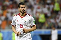 June 25, 2018 - Saransk, Russia - Saeid Ezatolahi of Iran during the 2018 FIFA World Cup Group B match between Iran and Portugal at Mordovia Arena in Saransk, Russia on June 25, 2018  (Credit Image: © Andrew Surma/NurPhoto via ZUMA Press)