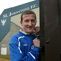 St Johnstone striker Chris Hay who scored the only goal on Tuesday at Falkirk hoping for another victory against Inverness tomorrow.<br />see story by Gordon Bannerman Tel: 01738 553978 or 07729 865788<br />Picture by Graeme Hart.<br />Copyright Perthshire Picture Agency<br />Tel: 01738 623350  Mobile: 07990 594431