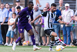 (L-R) Gerson Santos da Silva of ACF Fiorentina, Mohammed Osman of Heracles Almelo during the Pre-season Friendly match between Heracles Almelo and Fiorentina at Sportpark Wiesel  on August 01, 2018 in Wenum-Wiesel , The Netherlands