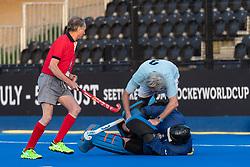 Trojans v Iceni Rex Essex - Men's O60s T2 Final, Lee Valley Hockey & Tennis Centre, London, UK on 06 May 2018. Photo: Simon Parker