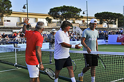 July 22, 2017 - France - Lucas Pouille - Flavio Panatta - Mansour Bahrami (Credit Image: © Panoramic via ZUMA Press)