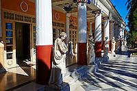 Grece, iles Ioniennes, Corfou, Achilleion, palais neoclassique de l Imperatrice Elisabeth d Autriche, la celebre Sissi // Greece, Ionian island, Corfu island, Achilleion palace of Empress Elisabeth of Austria well know as Sissi