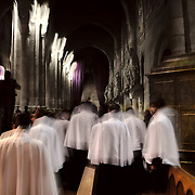 Choir at the end of Foot Washing mass at Braga Cathedral