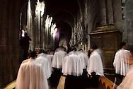 Choir at the end of Foot Washing mass at Braga Cathedral