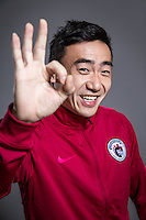 Portrait of Chinese soccer player Sang Yifei of Liaoning Whowin F.C. for the 2017 Chinese Football Association Super League, in Foshan city, south China's Guangdong province, 24 January 2017.