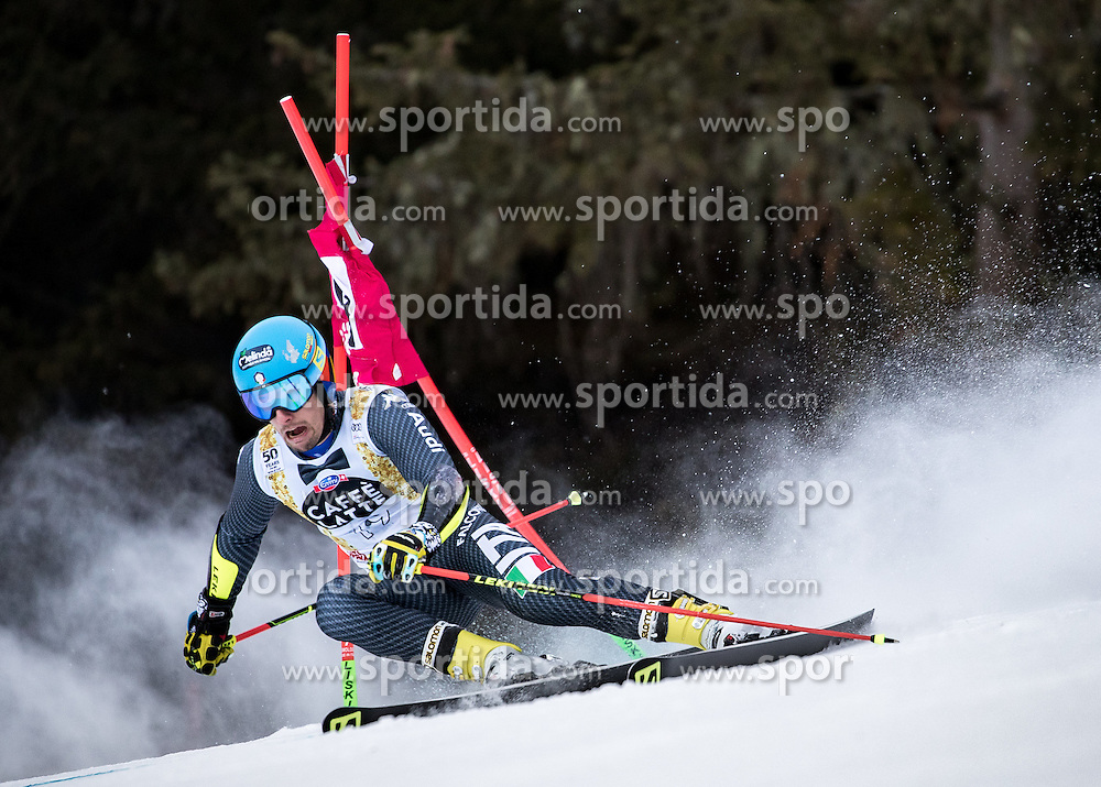 19.12.2016, Grand Risa, La Villa, ITA, FIS Ski Weltcup, Alta Badia, Riesenslalom, Herren, 1. Lauf, im Bild Luca De Aliprandini (ITA) // Luca De Aliprandini of Italy in action during 1st run of men's Giant Slalom of FIS ski alpine world cup at the Grand Risa race Course in La Villa, Italy on 2016/12/19. EXPA Pictures © 2016, PhotoCredit: EXPA/ Johann Groder