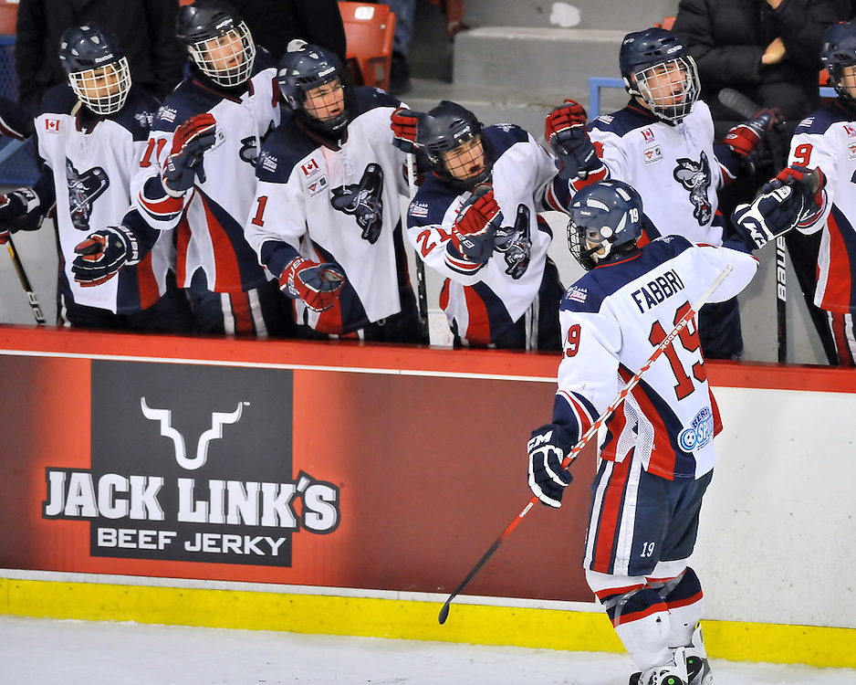 The Mississauga Rebels defeated the defending champions, the Toronto Marlboros 2-1 at 8:14 of the first overtime period to capture the 2012 OHL Cup.<br />