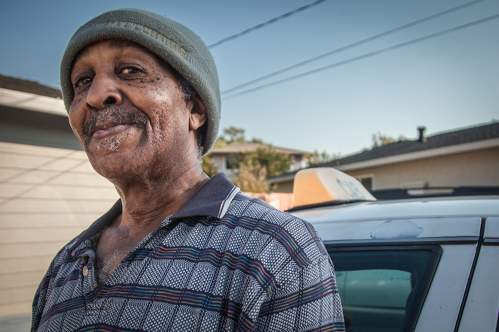 """I was the first black cab dirver in Pleasant Hiill...I've been here 19 years.""  Von Going, cab driver in Pleasant Hill, California"
