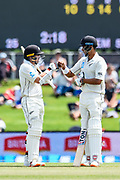 Tom Latham of the Black Caps and Jeet Raval of the Black Caps during Day2 of the cricket test match, Black Caps v Sri Lanka, Hagley Oval, Christchurch, New Zealand, 27th December 2018.Copyright photo: John Davidson / www.photosport.nz