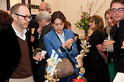LISA ARMSTRONG, Smythson Royal Wedding exhibition preview. Smythson together with Janice Blackburn has commisioned 5 artist designers to create their own interpretations of  Royal wedding memorabilia. Smythson. New Bond St. London. 5 April 2011.  -DO NOT ARCHIVE-© Copyright Photograph by Dafydd Jones. 248 Clapham Rd. London SW9 0PZ. Tel 0207 820 0771. www.dafjones.com.