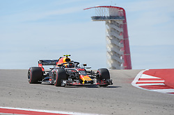 October 21, 2018 - Austin, TX, U.S. - AUSTIN, TX - OCTOBER 21: Red Bull Racing driver Max Verstappen (33) of Netherlands makes his way down the hill with the tower in the background during the F1 United States Grand Prix on October 21, 2018, at Circuit of the Americas in Austin, TX. (Photo by Ken Murray/Icon Sportswire) (Credit Image: © Ken Murray/Icon SMI via ZUMA Press)