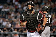 PHOENIX, AZ - MAY 24:  Chris Iannetta #8 of the Arizona Diamondbacks in action in the first inning against the Chicago White Sox at Chase Field on May 24, 2017 in Phoenix, Arizona. The Arizona Diamondbacks won 8-6.  (Photo by Jennifer Stewart/Getty Images)