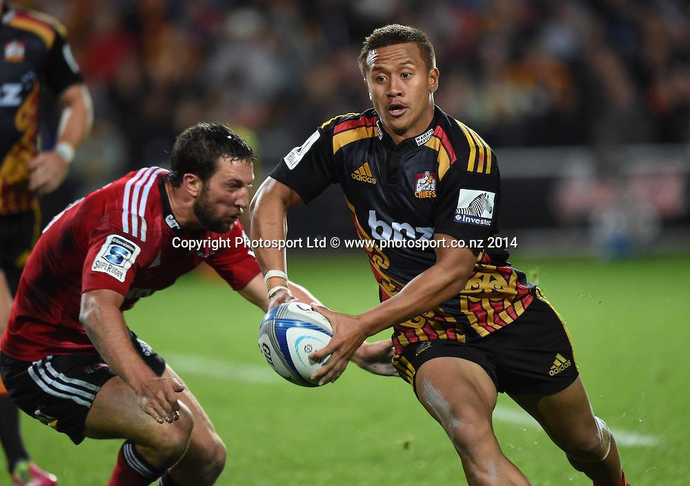 Tim Nanai-Williams. Chiefs v Crusaders. Super Rugby. Waikato Stadium, Hamilton, New Zealand on Saturday 19 April 2014. Photo: Andrew Cornaga/www.Photosport.co.nz