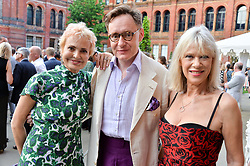 Left to right, Countess Maya von Schoenburg, Nick Foulkes and Nettie Mason at the V&A Summer Party 2017 held at the Victoria & Albert Museum, London England. 21 June 2017.