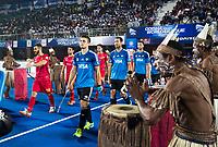 BHUBANESWAR -  Hockey World League finals ,  . Argentina v Spain . Team Argentina. Gonzalo Peillat (Arg). Juan Gilardi (Arg)COPYRIGHT KOEN SUYK