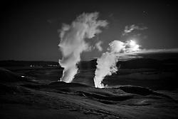 Geothermal steam from Nesjavellir, south Iceland - Jarðhitasvæði að Nesjavöllum