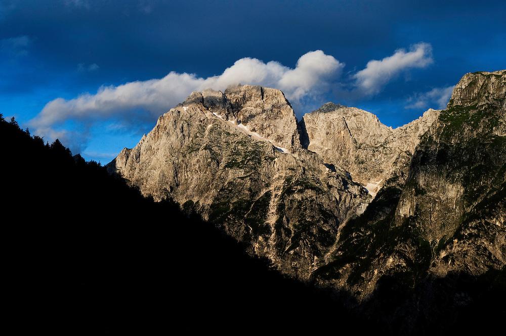 Mount Jalovec, Julian Alps<br /> Triglav National Park, Slovenia<br /> July 2009