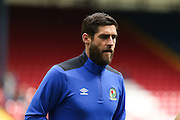Danny Graham of Blackburn Rovers warms u before the EFL Sky Bet Championship match between Blackburn Rovers and Burton Albion at Ewood Park, Blackburn, England on 20 August 2016. Photo by Simon Brady.