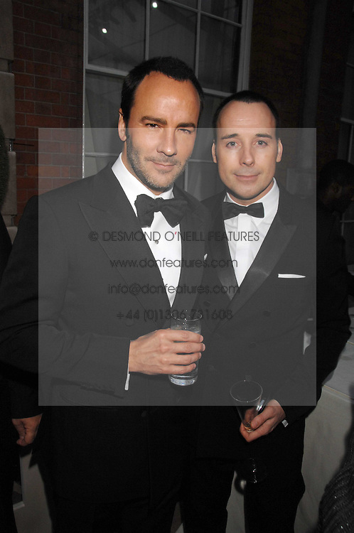 Left to right, TOM FORD and DAVID FURNISH at the Ark 2007 charity gala at Marlborough House, Pall Mall, London SW1 on 11th May 2007.<br />
