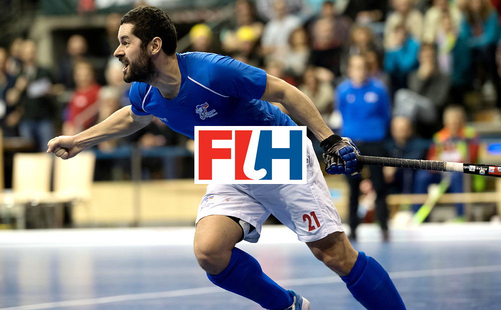 BERLIN - Indoor Hockey World Cup<br /> Quarterfinal 1: Iran - Czech Republic<br /> foto: VACEK David.<br /> WORLDSPORTPICS COPYRIGHT FRANK UIJLENBROEK