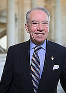 Senator Chuck Grassley (R-IA) in the Russell Senate Office Building rotunda in Washington, DC on Wednesday, April 10, 2013.