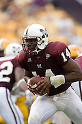 Baton Rouge, LA - SEPTEMBER 30:  Omarr Conner #14 of the Mississippi State Bulldogs against the LSU Tigers at Tiger Stadium on September 30, 2006 in Baton Rouge, Louisiana.  The Tigers defeated the Bulldogs 48 - 17.  (Photo by Wesley Hitt/Getty Images) *** Local Caption *** Omarr Conner