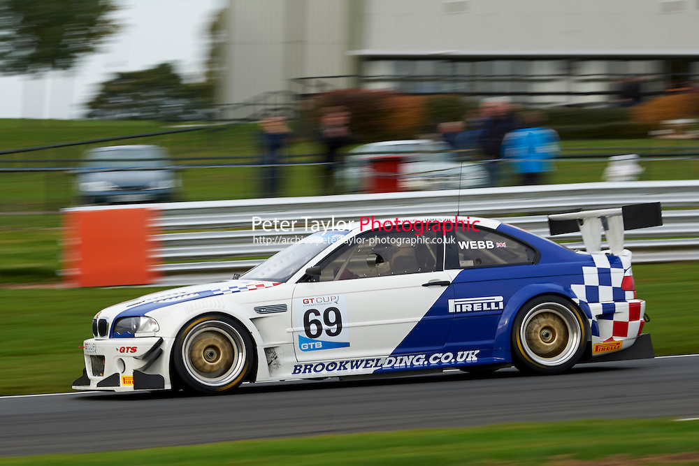 #69 Tom WEBB BMW E46 M3 GTR during GT Cup - Race 2 as part of the MSVR Oulton Park 10th October 2015 at Oulton Park, Little Budworth, Cheshire, United Kingdom. October 10 2015. World Copyright Taylor/PSP. Copy of publication required for printed pictures.  Every used picture is fee-liable.