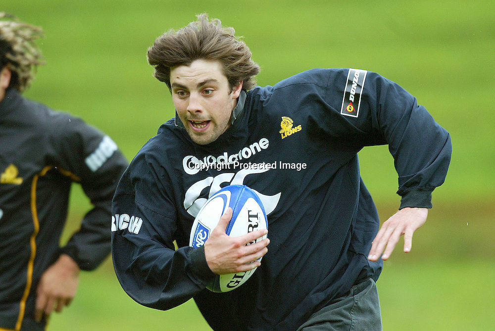 Lion's Conrad Smith during Lion's training for the final against Canterbury on Monday afternoon in Wellington. 18 October 2004<br />