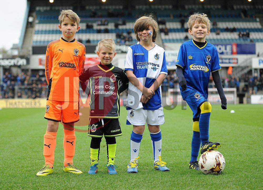 Mascots - Mandatory by-line: Neil Brookman/JMP - 18/11/2017 - FOOTBALL - Memorial Stadium - Bristol, England - Bristol Rovers v AFC Wimbledon - Sky Bet League One
