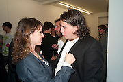 "SARAH MORRIS; ADAM WAYMOUTH, Video artist Yi Zhou  first solo show ""I am your Simulacrum"".Exhibition opening at 20 Hoxton Square Projects. Hoxton Sq. London. 1 September 2010.  -DO NOT ARCHIVE-© Copyright Photograph by Dafydd Jones. 248 Clapham Rd. London SW9 0PZ. Tel 0207 820 0771. www.dafjones.com."