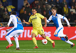 January 10, 2018 - Vila-Real, Castellon, Spain - Carlos Bacca of Villarreal CF and Ruben Perez of Club Deportivo Leganes during the Spanish Copa del Rey, Round of 16, match between Villarreal CF and Club Deportivo Leganes at Estadio de la Ceramica on jenuary 10, 2018 in Vila-real, Spain. (Credit Image: © Maria Jose Segovia/NurPhoto via ZUMA Press)