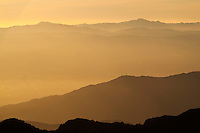 View From San Gabriel Mountains at Sunset, Angeles National Forest, California
