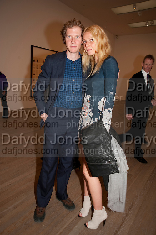 JAKE PALTROW; GWYNETH PALTROW, A Living man declared Dead and Other Chapters. Taryn Simon. Tate Modern, London. 24 May 2011. <br /> <br />  , -DO NOT ARCHIVE-&copy; Copyright Photograph by Dafydd Jones. 248 Clapham Rd. London SW9 0PZ. Tel 0207 820 0771. www.dafjones.com.