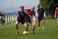 Dundee&rsquo;s Conor Quigley and Ian Smith -  Dundee FC - Pre-season training at University Grounds, Riverside, Dundee, Photo: David Young<br /> <br />  - &copy; David Young - www.davidyoungphoto.co.uk - email: davidyoungphoto@gmail.com