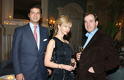 Left to right, PRINCE CASIMIR ZU SAYN-WITTGENSTEIN-SAYN, AMANDA CRONIN and MARK CORNELL at a dinner hosted by Krug champagne at Claridge's, Brooke Street, London on 14th February 2006.<br /><br />NON EXCLUSIVE - WORLD RIGHTS
