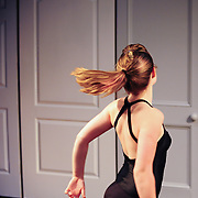 Students from the UNH Dance department and The Great Bay Academy of Dance taking a master class with Sarah Nachbauer, Dance Captain of the Momix Dance company, at The Music Hall Loft in Portsmouth, NH
