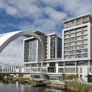 Crystal Towers Hotel and bridge, Century City, Cape Town, South Africa