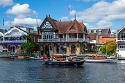 Henley on Thames, England, United Kingdom, 6th July 2019, Henley Royal Regatta,  from the base, of the press Box,  [© Peter SPURRIER/Intersport Image]<br /> <br /> 10:05:32 1919 - 2019, Royal Henley Peace Regatta Centenary,