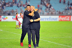 September 1, 2017 - Tunis, Tunisia - Nabil Maaloul(R) coach of Tunisia and his assistant M.Missawi during the qualifying match for the World Cup Russia 2018 between Tunisia and the Democratic Republic of Congo (RD Congo) at the Rades stadium in Tunis. (Credit Image: © Chokri Mahjoub via ZUMA Wire)