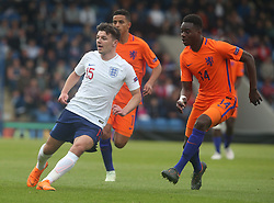May 17, 2018 - United Kingdom - L-R Bobby Duncan of England Under 17 and Christopher Mamengi of Netherlands Under 17 .during the UEFA Under-17 Championship Semi-Final match between England U17s against Netherlands U17s at Proact Stadium,  .Chesterfield FC, England on 17 May 2018. (Credit Image: © Kieran Galvin/NurPhoto via ZUMA Press)