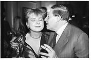Vicki Woods and Peter Townend. Wedding reception Craig Brown and Frances Welch. Polish Club. London. 10 October 1987. SUPPLIED FOR ONE-TIME USE ONLY> DO NOT ARCHIVE. © Copyright Photograph by Dafydd Jones 66 Stockwell Park Rd. London SW9 0DA Tel 020 7733 0108 www.dafjones.com