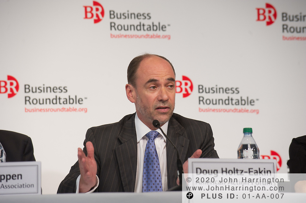 "Douglas Holtz-Eakin, President, American Action Forum speaks in a panel during the Business Roundtable ""Meeting the Challenges of Economic Growth and Deficit Reduction"" discussion at the Newseum in Washington, DC on September 6th, 2011."