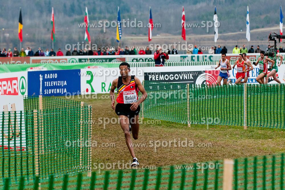 Atelaw Yeshetela Bekele of Belgium during the Senior Men's race during the 18th SPAR European Cross Country Championships Velenje 2011, on December 11, 2011 in Stadium Ob jezeru, Velenje, Slovenia. (Photo By Matic Klansek Velej / Sportida.com)