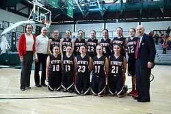 23 January 2016: IHSA Basketball game during the McLean County Tournament at Shirk Center in Bloomington Illinois - girls 3rd place, Heyworth v Flanagan Cornell Woodlawn
