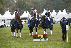 Team KWPN<br /> Burton Christopher, AUS, Fire Fly<br /> llewellyn Emily, GBR, Emirati Nightsky<br /> Price Jonelle, NZL, Cooley Showtime<br /> World Championship Young Eventing Horses<br /> Mondial du Lion - Le Lion d'Angers 2016<br /> © Hippo Foto - Dirk Caremans<br /> 23/10/2016