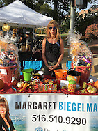Margaret Biegelman, President of Merrick Chamber of Commerce, at Merrick Fall Festival.