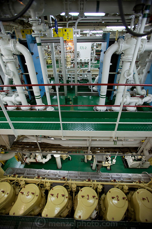 Engine and control room of the Scandinavian-built ice-breaker Akademik Sergey Vavilov, originally built for the Russian Academy of Science and still used occasionally by scientists, is now predominantly used for adventure touring in both the Arctic and the Antarctic. The ship is currently operated by a Russian crew, and staffed with employees of the adventure touring company Quark Expeditions, and carries around 100 passengers at a time. Rounding Cape Horn..