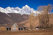 The historic Miller House, National Elk Refuge, Jackson Hole, Wyoming USA