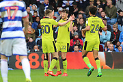 Rotherham United midfielder Joe Newell (22) celebrating after scoring 1-1 during the EFL Sky Bet Championship match between Queens Park Rangers and Rotherham United at the Loftus Road Stadium, London, England on 18 March 2017. Photo by Matthew Redman.