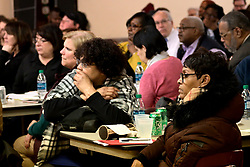 The community of Kensington and Port Richmond is informed on the progress of Philadelphia Mayor's Opioid Task Force and the Philadelphia Resilience Project, during a town hall meeting in Port Richmond, on January 9, 2019. (Bastiaan Slabbers for WHYY)